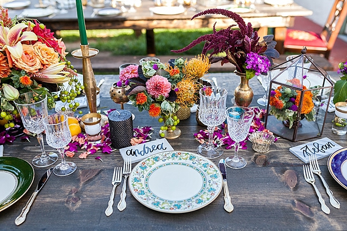 Colorful Backyard Anniversary Party   Southern California ...