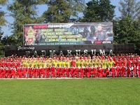 Olahraga bersama Prajurit Petarung Padmakusuma dan Persit KCK Ranting 4 Yonif 407