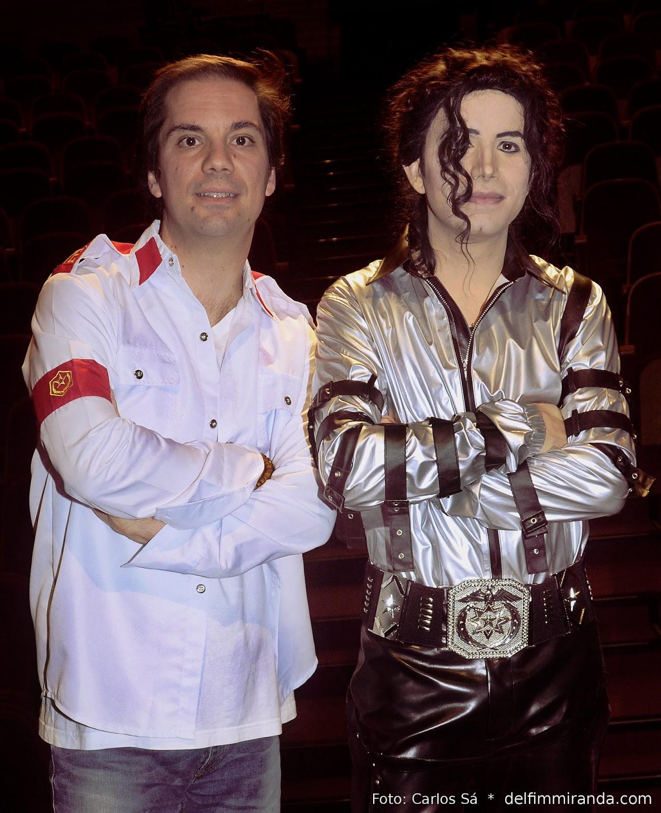 Delfim Miranda - Michael Jackson Tribute - Posing after the show with Rui Duarte