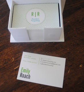 Moo green business card review and giveaway emily roach wellness each business card is like handing out a present its heavy well designed moo design not my own and has great color saturation reheart Images