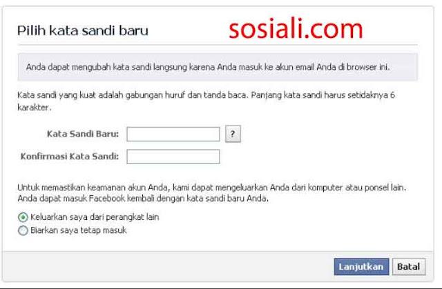 Password Facebook