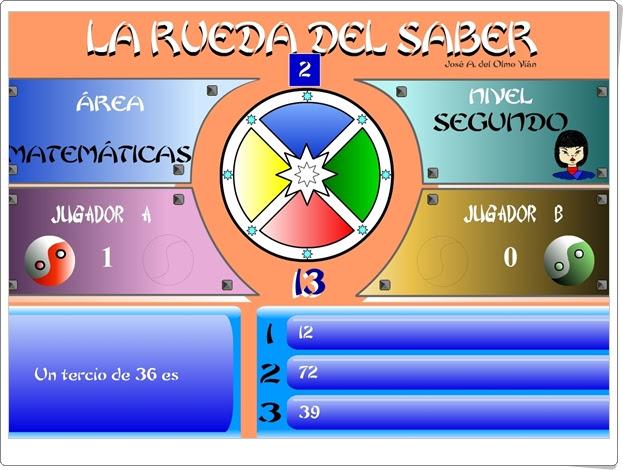 """JUEGOS DE FIN DE CURSO: """"La rueda del saber. Nivel II"""" (Juego multidisciplinar de 5º  de Primaria)"""