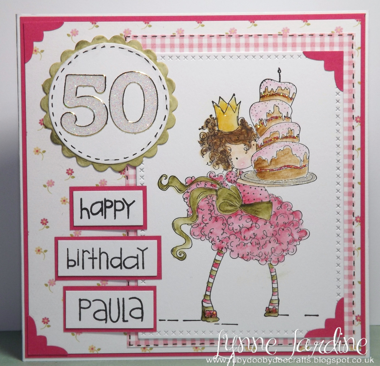 Ruby Dooby Doo Crafts 50th Birthday Card