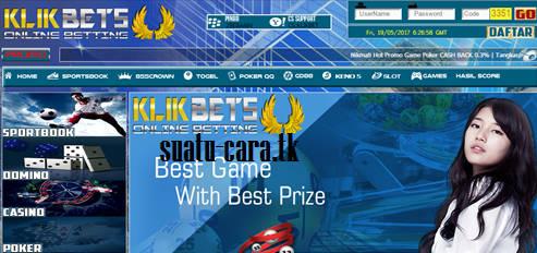 KLIKBETS.NET BETTING BOLA, JUDI BOLA, JUDI POKER ONLINE, CASINO ONLINE,TOGEL ONLINE, BANDAR Q