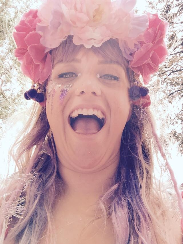 Lovebox festival, floral crowns, glitter