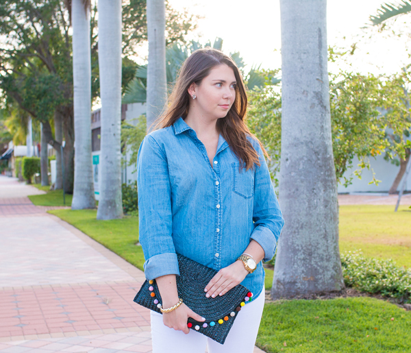 South Florida fashion blogger in all denim.