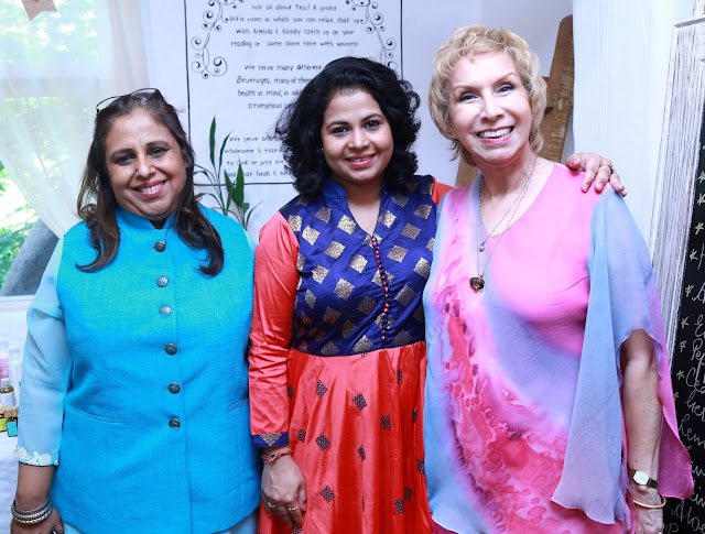 Oncologist Dr. Meenu Walia, Sneha Routray, cancer survivor and President Grameen Sneh Foundation and Aromatherapist Dr. Blossom Kochhar-min