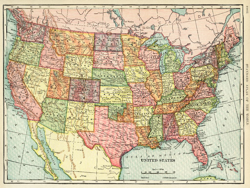 high resolution map of the united states