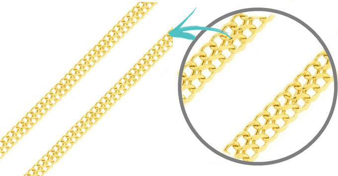 Corrente de ouro 18k feminina malha lacraia 40cm (1)
