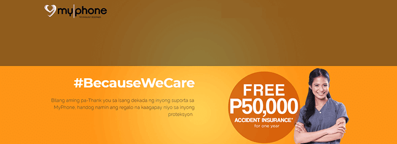 MyPhone offers up to PHP 50K of FREE Accidental Insurance