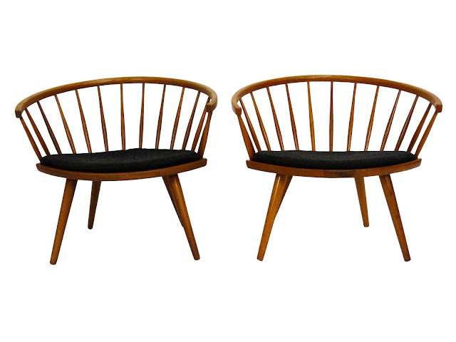 Mid-Century Pair of Arka Chairs by Yngve Ekström 1