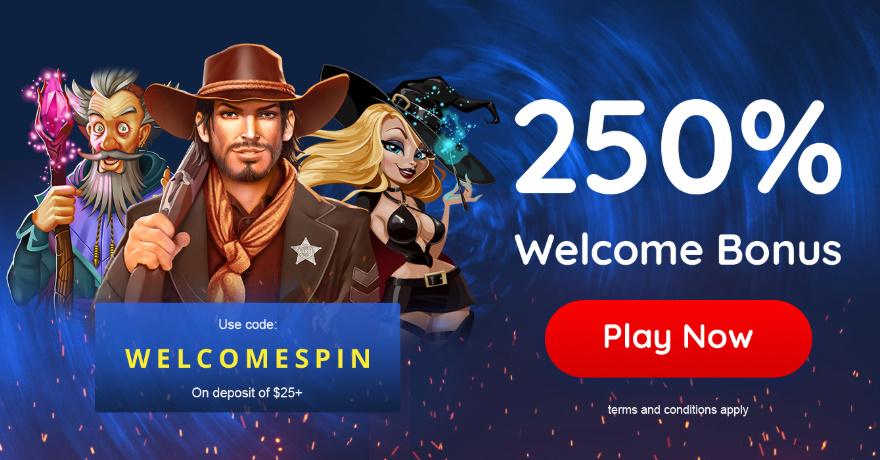 250% Freespin Casino Bonus