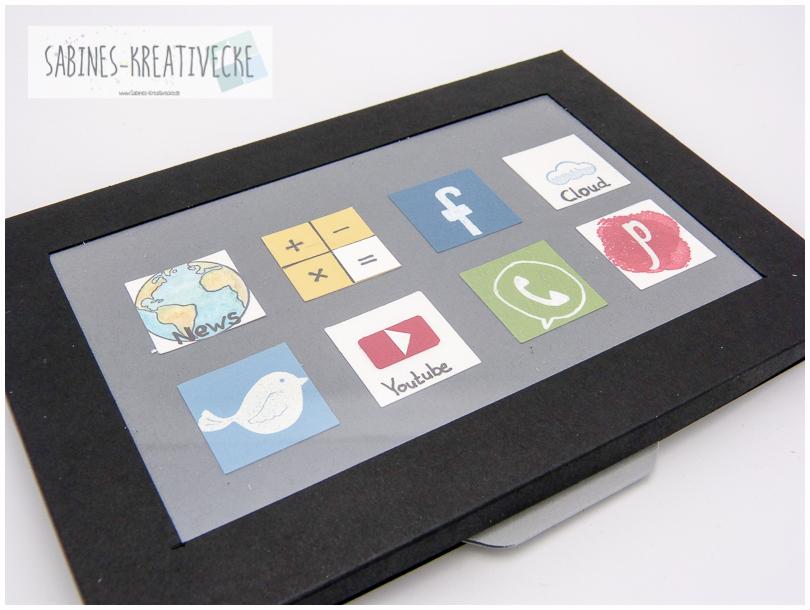 Sabines Kreativecke Videotutorial Tablet Fur Ein Geldgeschenk Mit