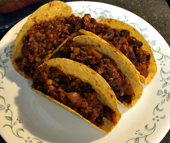 Recipes I've Tried Lately - Black bean & lentil tacos