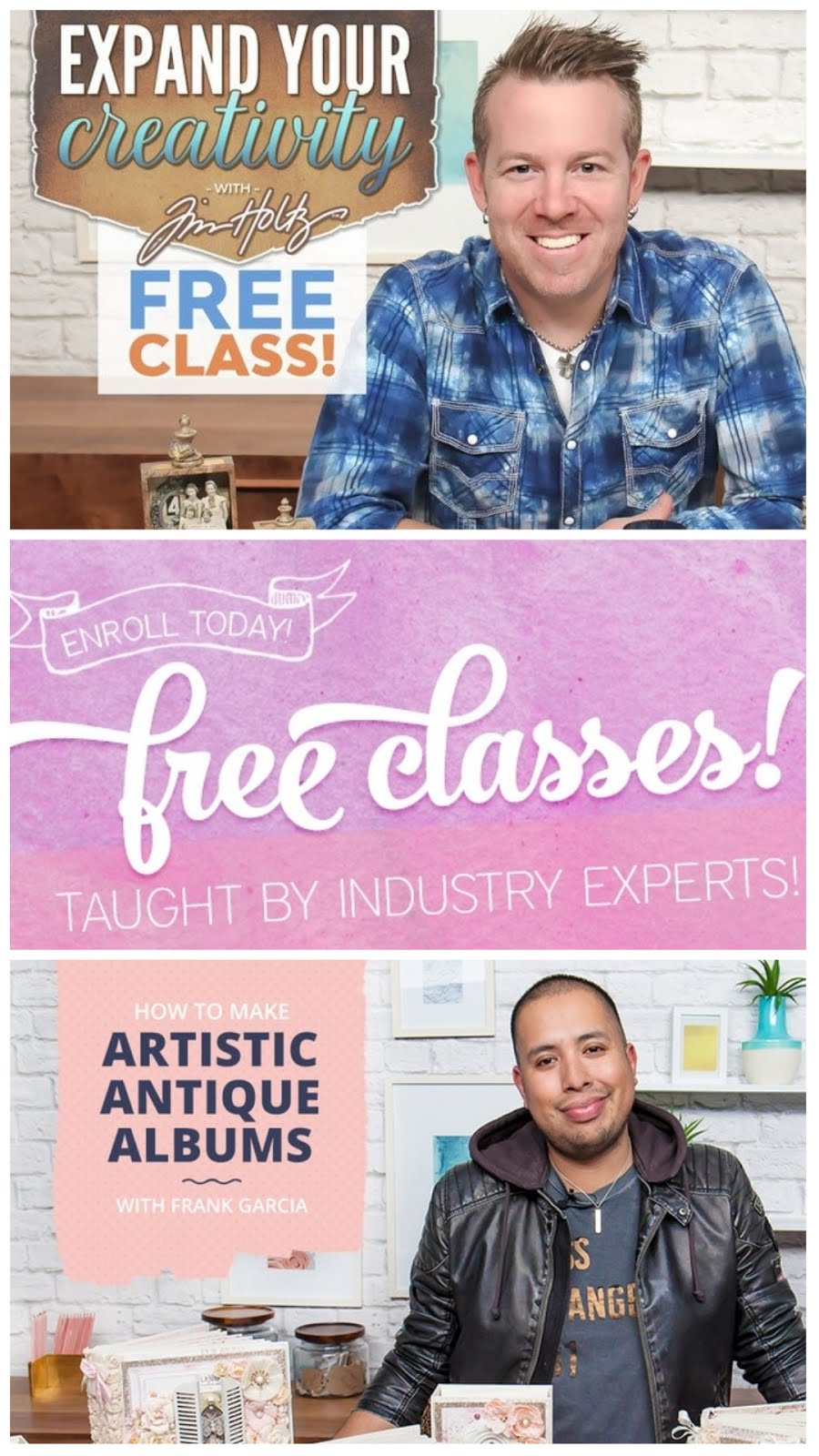 Don't miss the free classes !