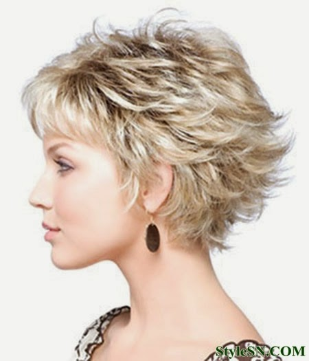 Pleasing Hairstyles For Short Curly Hair Round Face Short Hair Fashions Short Hairstyles Gunalazisus