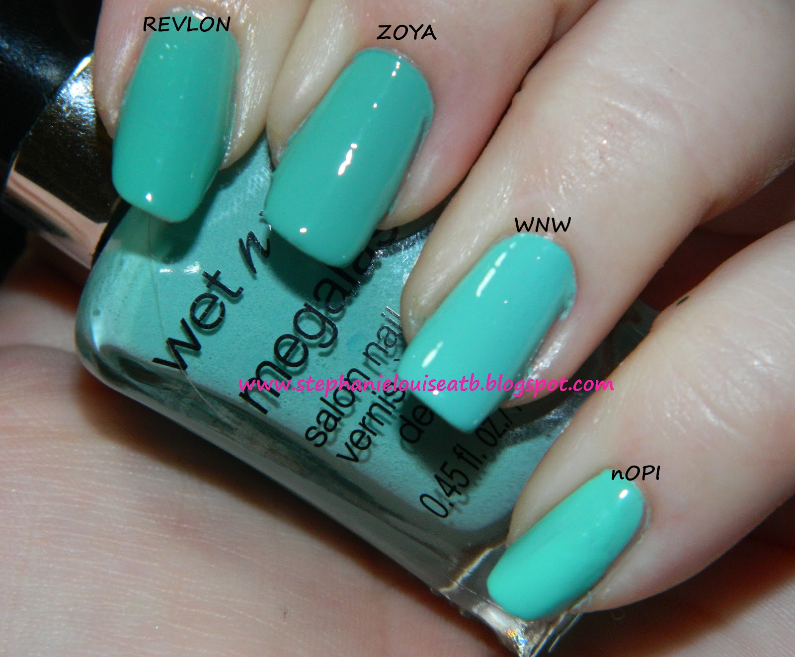 My Current Favorite Mint Nail Polishes for Spring