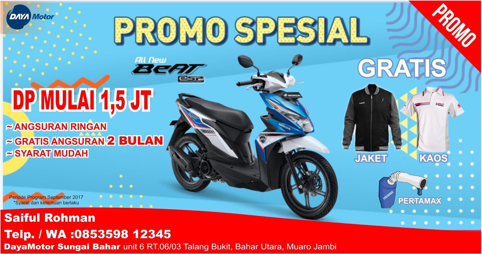 Brosur Kredit Motor Honda Beat Esp Terbaru November 2017 All New Vario 150 Exclusive Matte Blue Boyolali September Dealer Sepeda