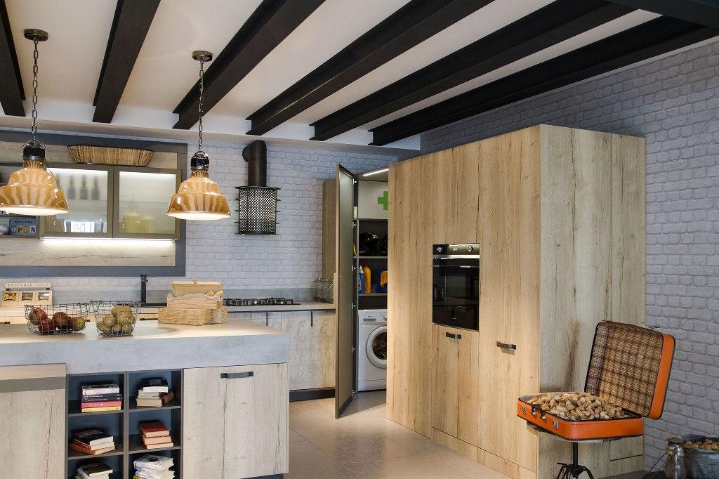 envejecido e industrial un ambiente no convencional On cocina industrial tipo loft