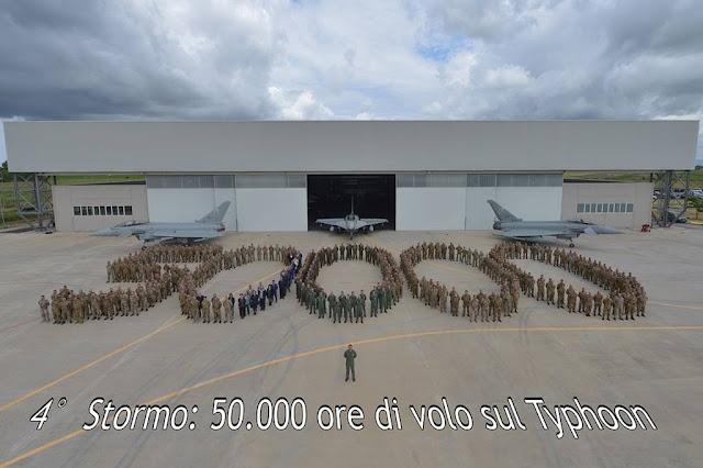 50000 ore volo Eurofighter 4 Stormo