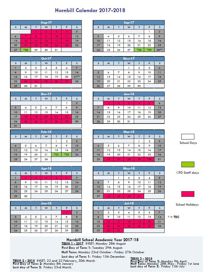 School Calendar 2018 Brunei : Brunei hive hornbill academic calendar