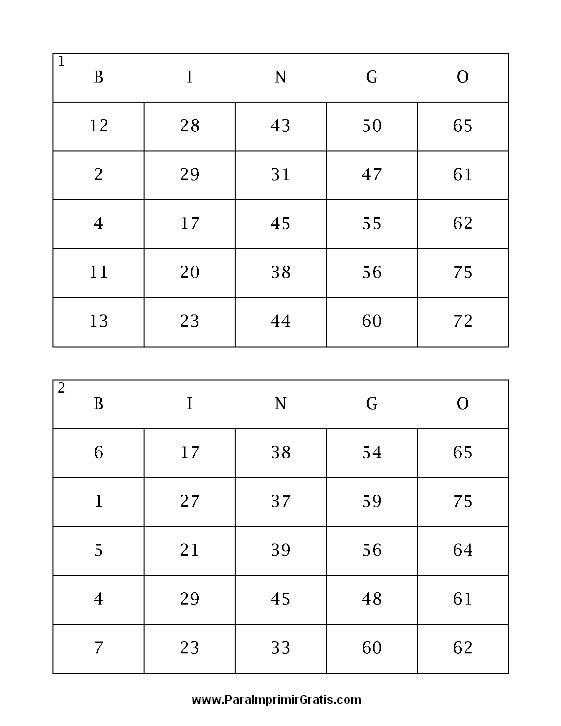 Tecnología Habitual Crear Cartones De Bingo En Pdf Para Jugar En Casa