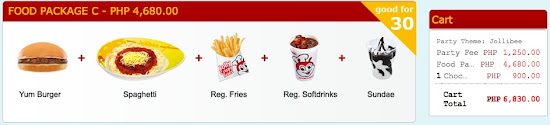 Jollibee Birthday Party Package Price - food package C