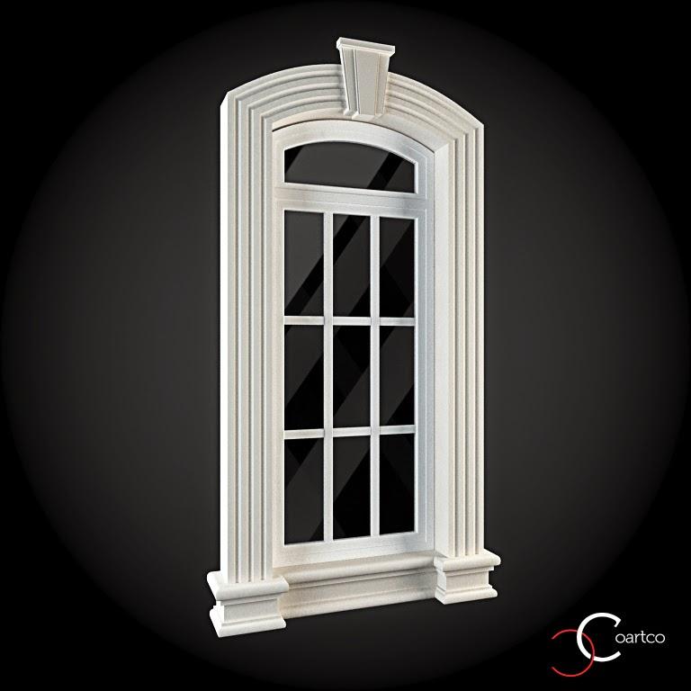 Ornamente Geamuri Exterior, fatade case cu profile decorative polistiren, profile fatada,  Model Cod: WIN-037