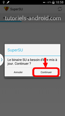 SuperSU : continuer