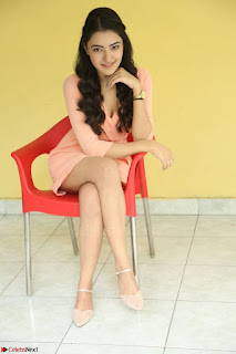 Rukshar Mir in a Peachy Deep Neck Short Dress 092.JPG