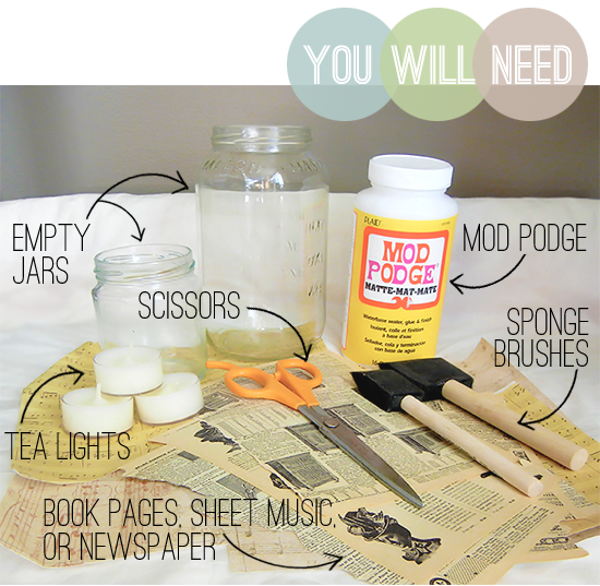 DIY mason jar candle supplies