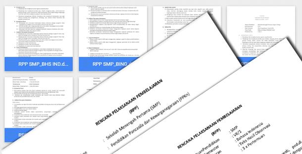 RPP dan Silabus Kurikulum 2013 SMP Kelas 7 8 9 Download Lengkap Format Microsoft Word