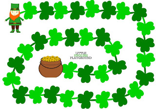Board games for St.Patrick's Day - free printable + more ideas for ESL lesson for kids!