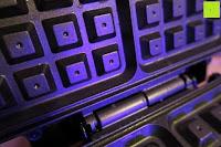 Eisen nach dem Backen: Waffeleisen Belgisch für 4 belgische Waffeln,XXL Waffelautomat,brüssler Doppel,Thermostat, stufenlose Temperatureinstellung, Backampel, Cool-Touch Griff