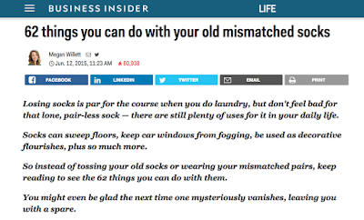 http://www.businessinsider.com/62-things-you-can-do-with-your-old-mismatched-socks-2015-6