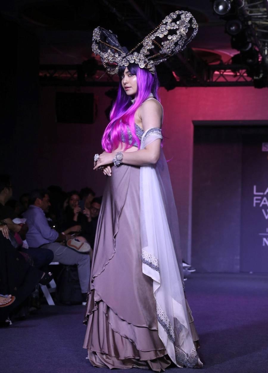 Indian model Adah Sharma At Lakme Fashion Week 2019