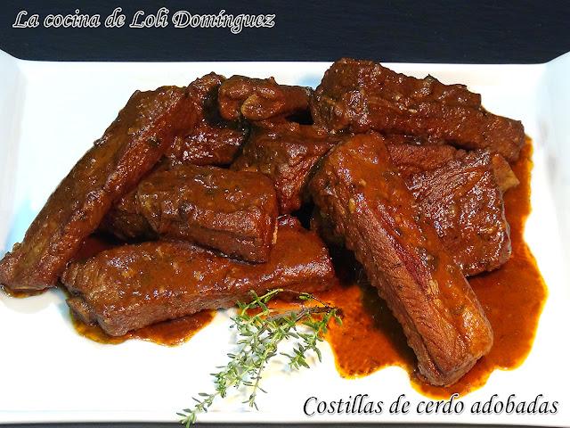 Costillas de cerdo adobadas (Receta tradicional)