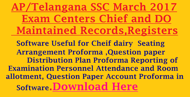 AP/TS SSC March 2017 Exam Centers Chief Records, Proformas, Letters and Proceedings Software|Software for SSC-2017 MARCH Exam Centers Chief Records|SSC Public Exam Center Chief Proceedings Software,10th public exams chief proformas software for march 2017,SSC Public Exams March 2017 Proformas for CS DO SSC Public Exams Chief,DO Proformas Proceedings and Chief issue Certificates list Software for March 2017.AP SSC Exam Centers Chief Proformas Software, TS SSC Exam Centers Maintained Records Software, Chief Sending Letters, Proceedings Software, TS 10th Class Public Exam DO Maintained Registers,TS 10th Class Public Exams Chief Proformas Software, AP SSC CS and DO Proceedings and Letters Software and AP 10th Class Exam Centers Departmental Officers Proformas and Certificates Software , AP 10th Class Public Exams CS and DO Proformas and Certificates Software. 10th Class Public Exams Chief Superitendent and Departmental Officers important All Proformas and Certificates in Software. AP SSC Exam Centers Chief Proformas Software, TS SSC Exam Centers Maintained Records Software, Chief Sending Letters, Proceedings Software, TS 10th Class Public Exam DO Maintained Registers,TS 10th Class Public Exams Chief Proformas Software, AP SSC CS and DO Proceedings and Letters Software and AP 10th Class Exam Centers Departmental Officers Proformas and Certificates Software , AP 10th Class Public Exams CS and DO Proformas and Certificates Software. 10th Class Public Exams Chief Superitendent and Departmental Officers important All Proformas and Certificates in Software. All Proformas and Certificates in Softwares /2017/03/software-for-ssc-2017-march-examcentres-chief-DO-maintained-records-registers-download.html