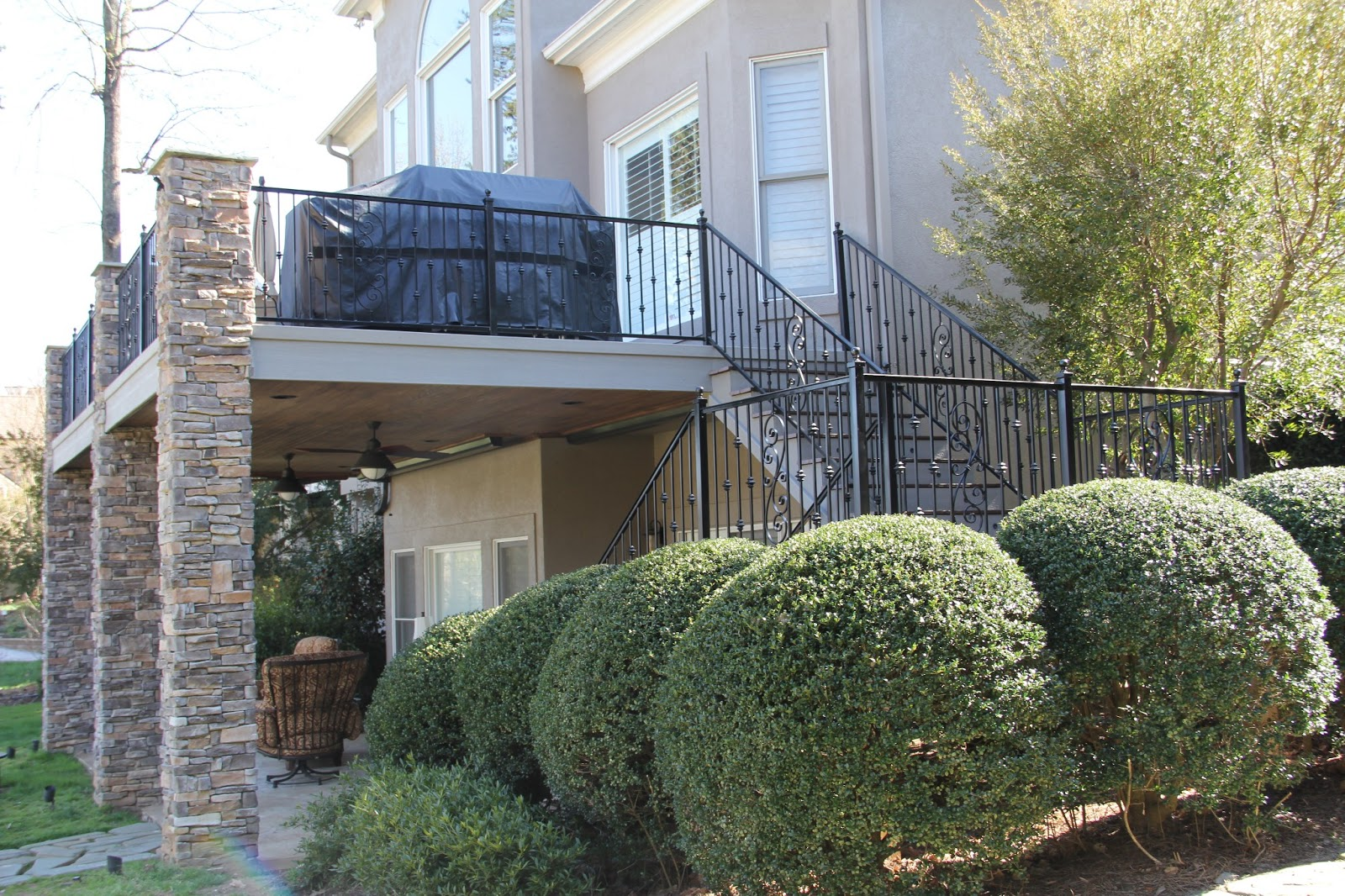Decorative Iron Of Nc Inc Wrought Iron Stair Case Deck