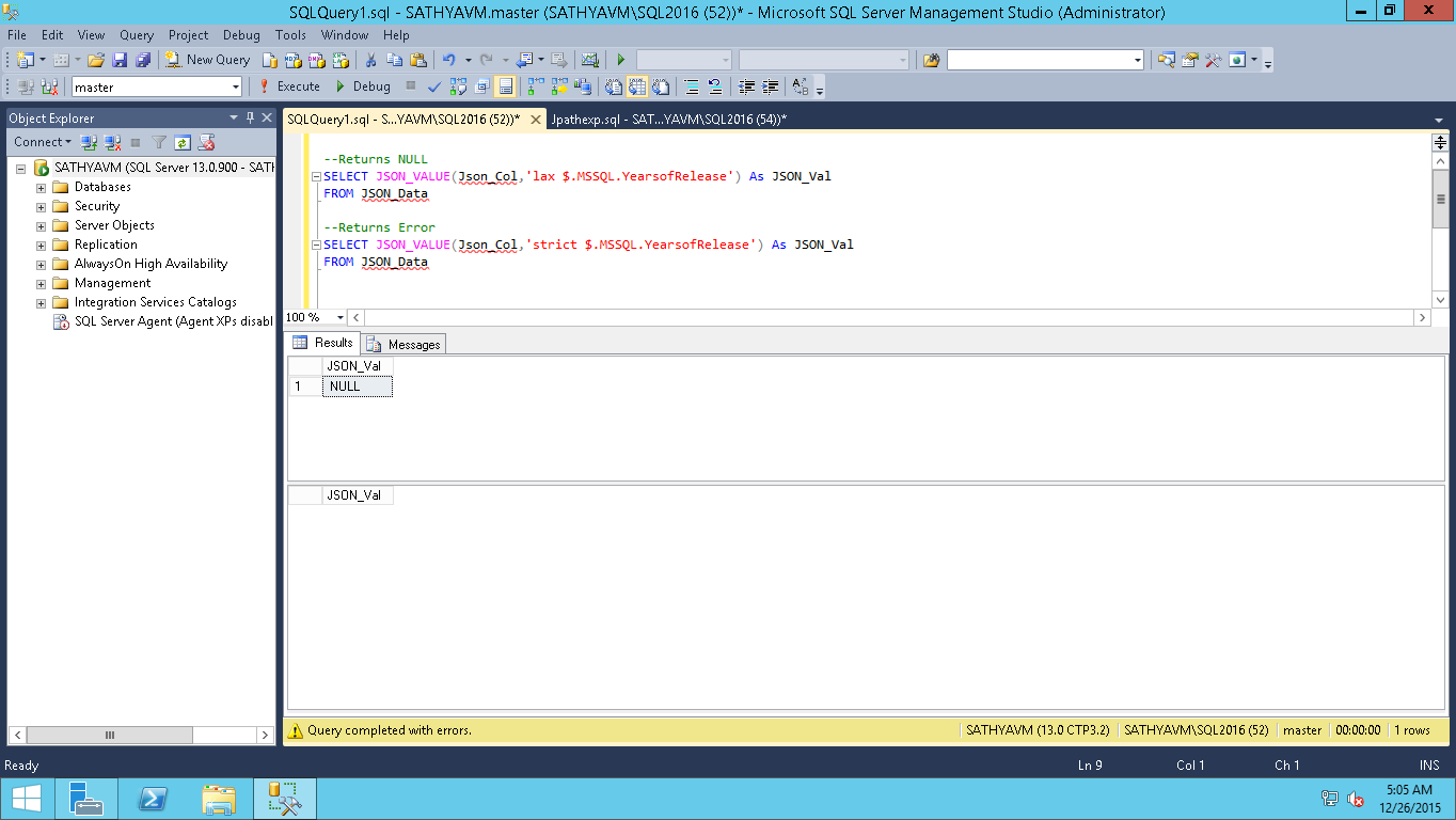 All about SQLServer: SQL Server JSON - Examples - JSON_QUERY