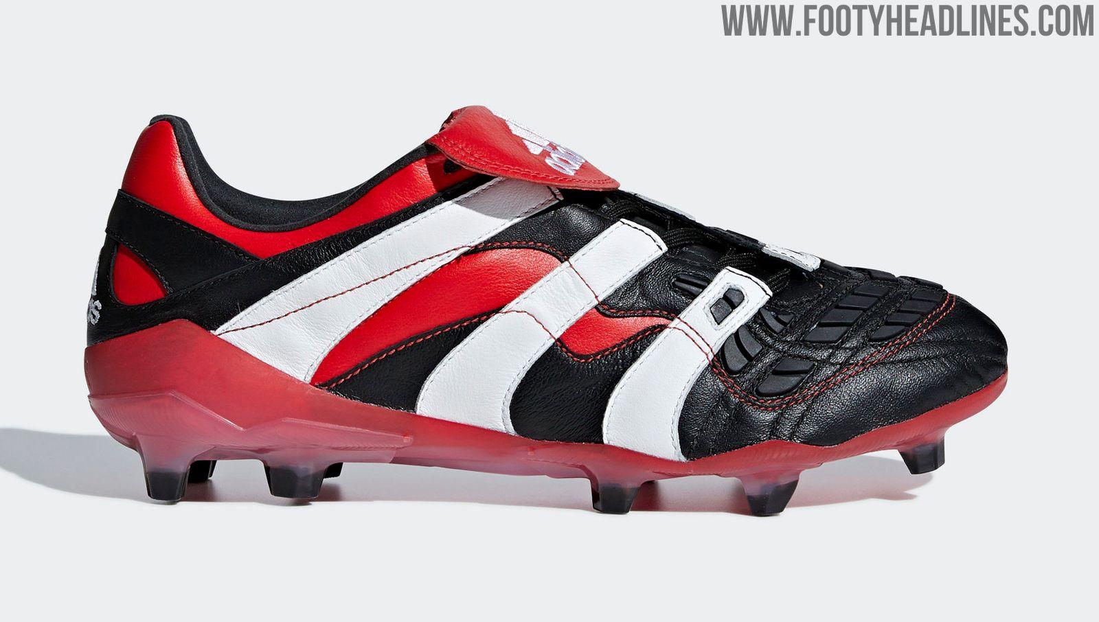 black white red adidas predator accelerator 2018
