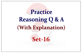 Practice Reasoning Questions (with explanation) for Upcoming Bank PO and Clerk Exams 2015 Set-16