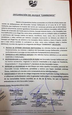 Ante los hechos de violencia #Cambiemos emite el siguiente comunicado.