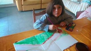Pintar con acuarelas y cartón