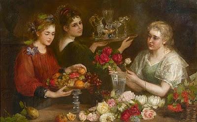 Femmes avec des Fleurs et des Fruits (1899), Antonie Boubong