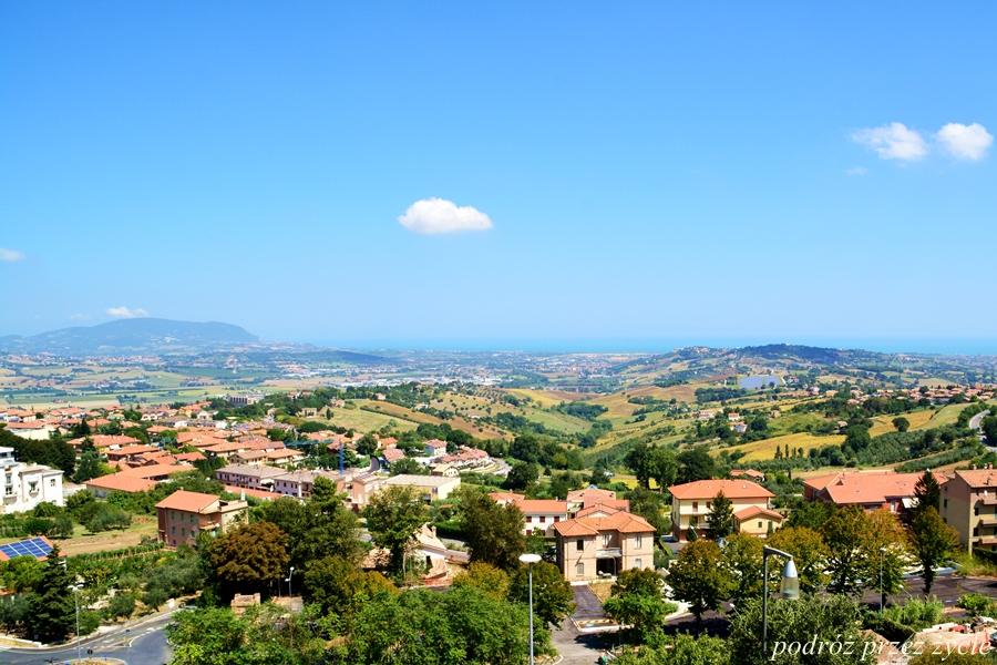widok z  Recanati, Italy, Włochy, Marche