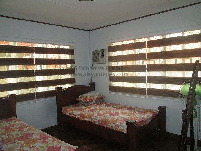 Combi Blinds for a Classic Twin Bedroom - Kalayaan Village,  Pasay City