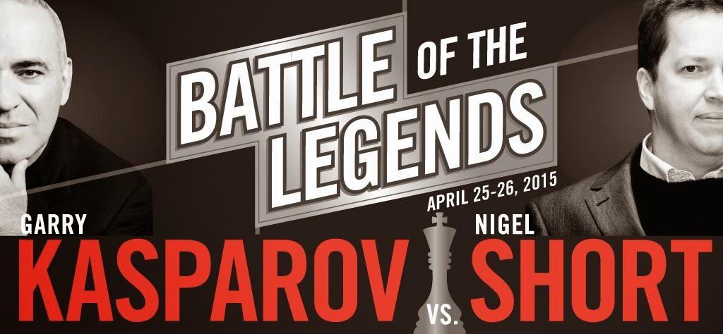 Kasparov - Short. Batalla de leyendas. Foto: Saint Louis Chess Club