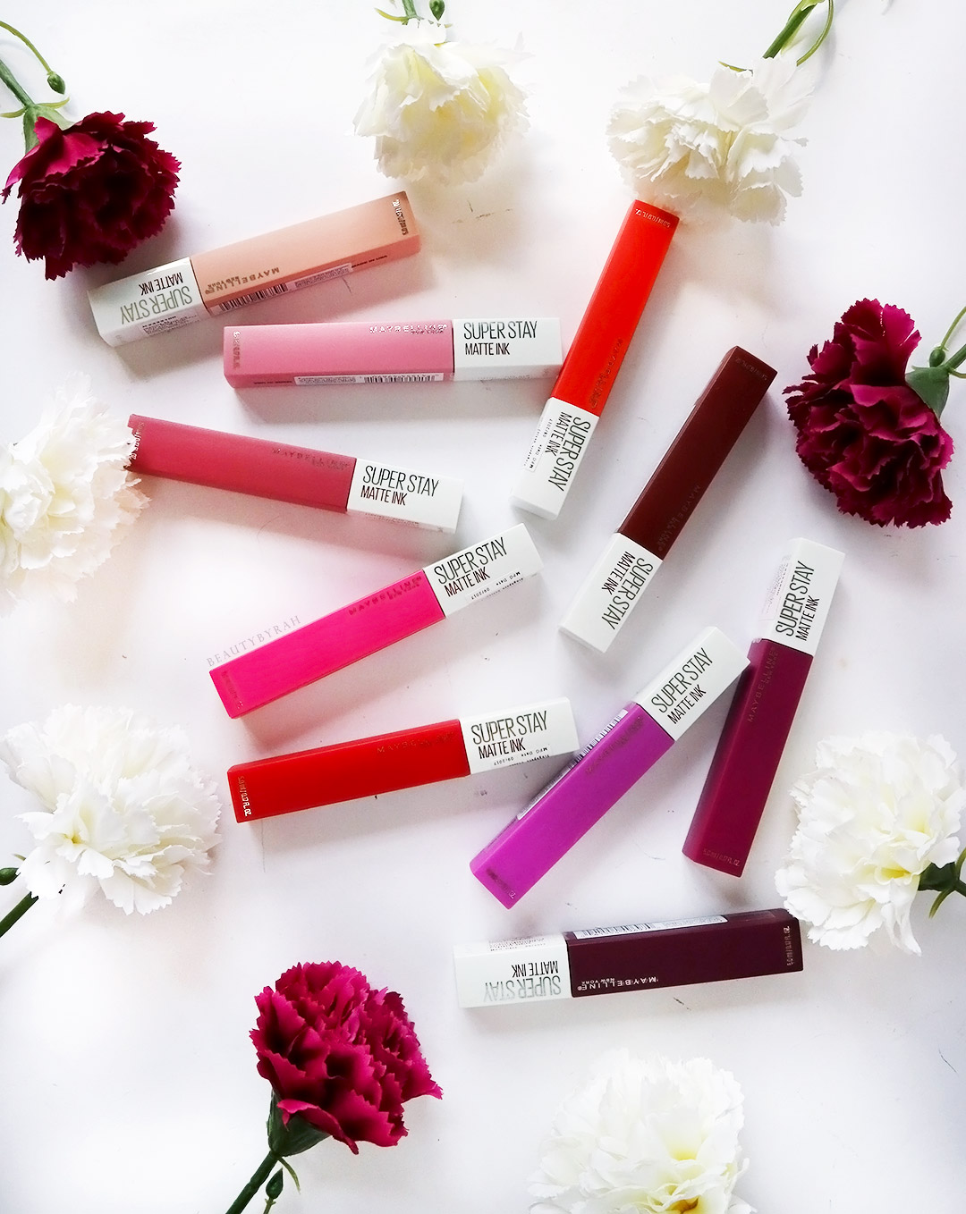 Maybelline SuperStay Matte Ink Liquid Lip Swatches