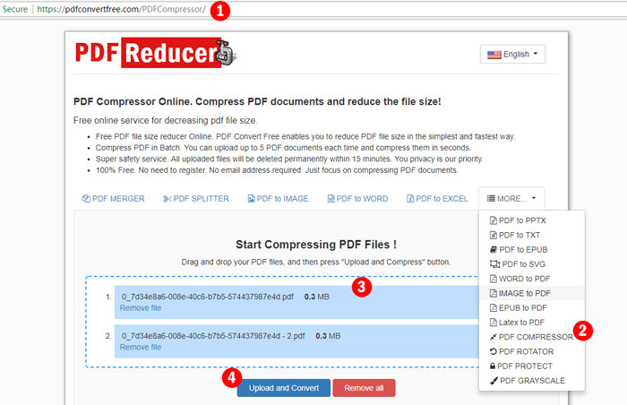 PDF Convert Free Review: Free Online Service to compress PDF